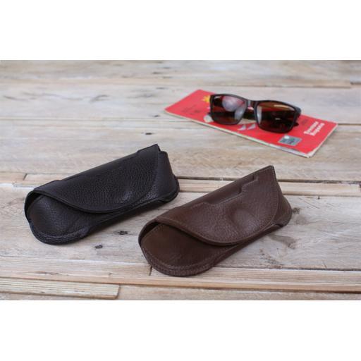 Leather Glasses Case (Art Deco trim)