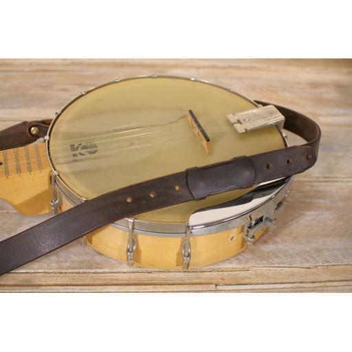 hand made quality leather banjo strap. Black Bedroom Furniture Sets. Home Design Ideas