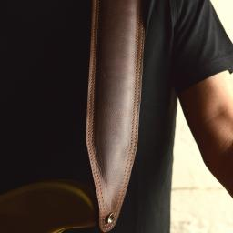 BS63 Padded Bass Guitar Strap - Brown