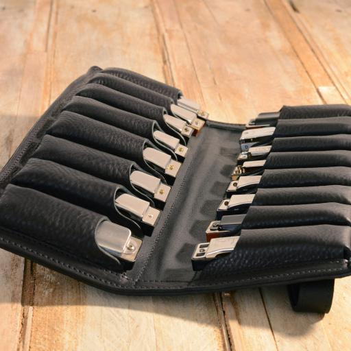 Sixteen-Pack Leather Harmonica Case