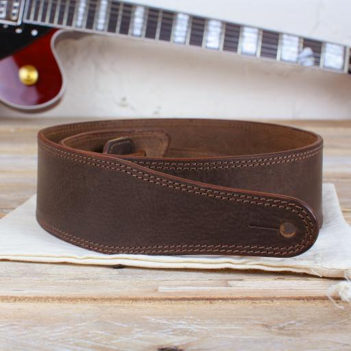 "GS41 2 3/8"" (60mm) Wide Guitar Strap - Brown"