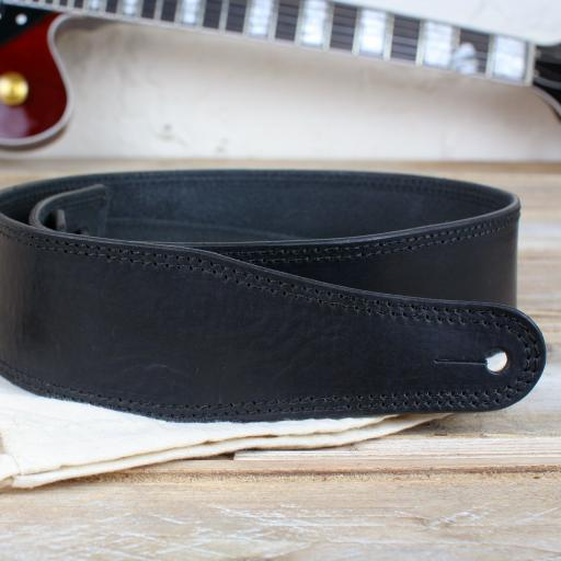 "GS41 2 3/8"" (60mm) Wide Guitar Strap - Black"