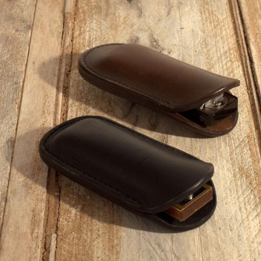 Single Harmonica Pouch - shaped leather
