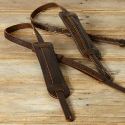 "GS24 3/4"" Rockabilly Guitar Strap - brown"