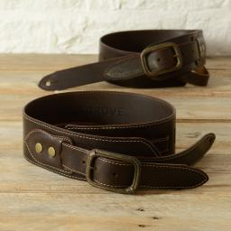 BS79 Leather Guitar Strap With Buckle - brown
