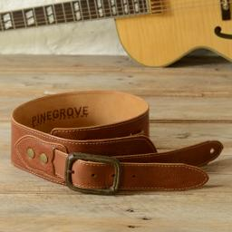 BS79 Leather Guitar Strap With Buckle - tan