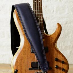 BS64 Superwide Padded Bass Guitar Strap - Blue
