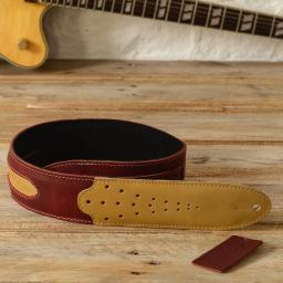 GS60 Two-Tone Guitar Strap - red & cream
