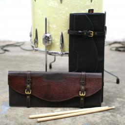 Western Style Leather Drumstick Bag