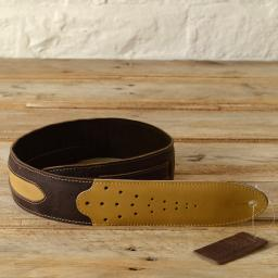 GS60 Two-Tone Guitar Strap - brown & cream