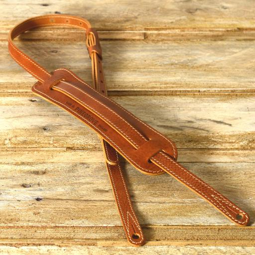 "GS24 3/4"" (18mm) Wide Country Guitar Strap - Tan"