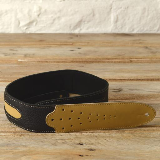 GS60 Two-Tone Guitar Strap - black & cream