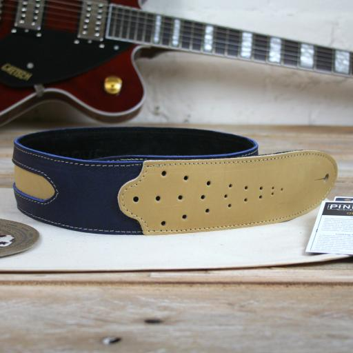 GS60 Two-Tone Guitar Strap - blue & cream