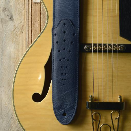 GS74 Tombstone Guitar Strap - Blue