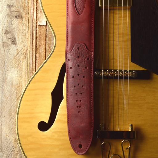 GS74 Tombstone Guitar Strap - Red