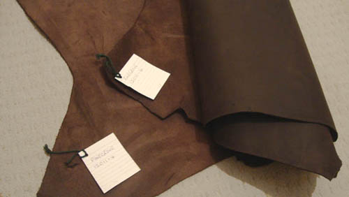Leather as we buy it at Pinegrove Leather
