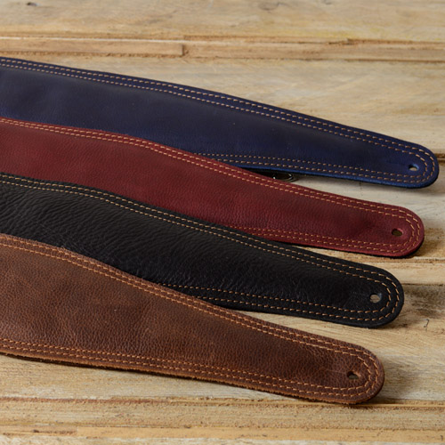 BS64 bass guitar strap in black, red, blue and brown