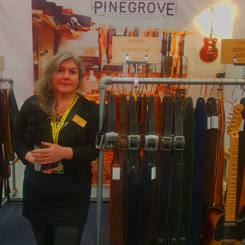 Lulu of Pinegrove Leather at The Guitar show 2019