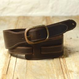 GS78 Leather Guitar Strap With Buckle - brown
