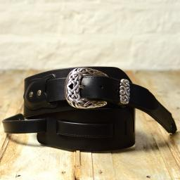 BS79 Guitar Strap With Celtic Buckle - black