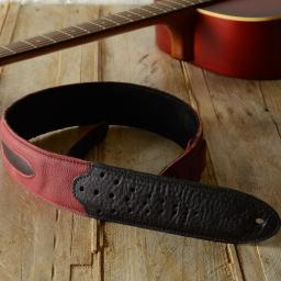 GS60 Two-Tone Guitar Strap - red & black