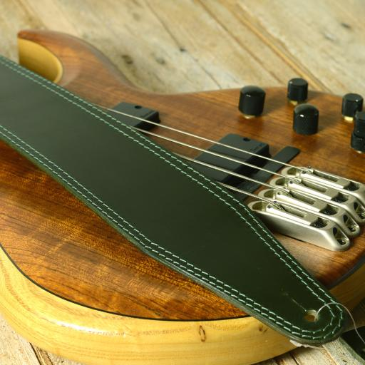 "BS53 3"" (76mm) Wide Guitar Strap - Limited Edition Green"