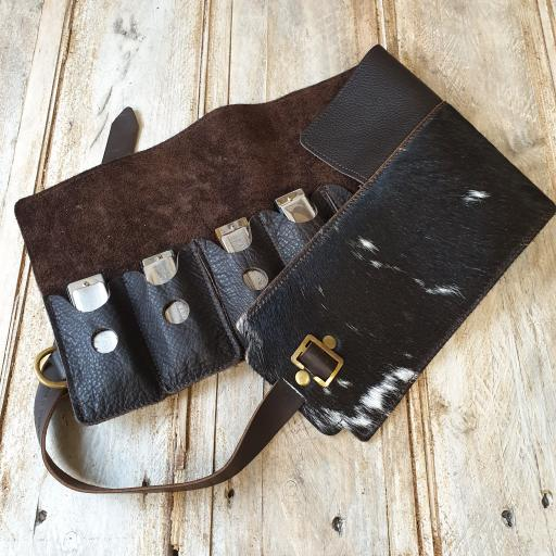 Straight-8 Belt & Case with hair-on cowhide ONE OFF!