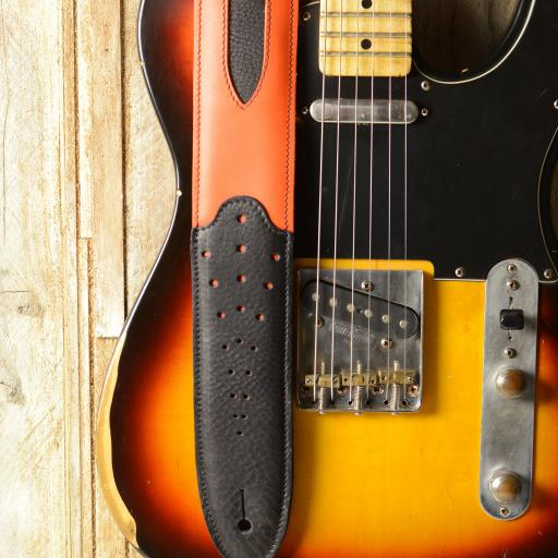 GS60 Two-Tone Guitar Strap - orange & black
