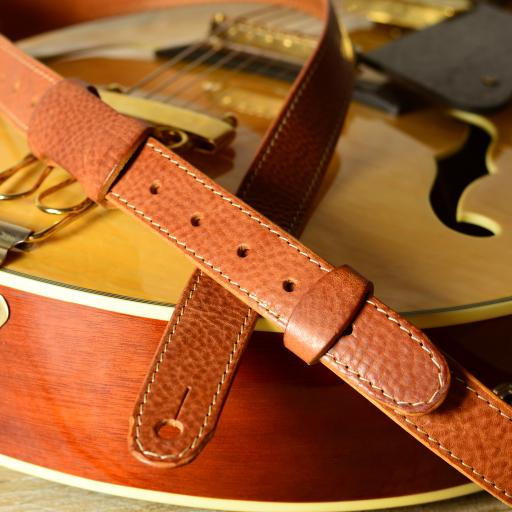 "GS55 Slim Guitar Strap 1 1/8"" wide - Tan"