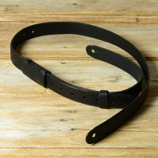GS55 Slim Leather Guitar Strap - Black