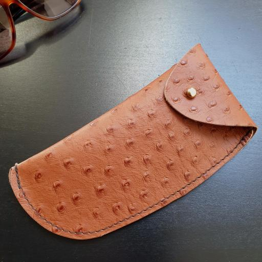Leather Sunglasses Case - tan