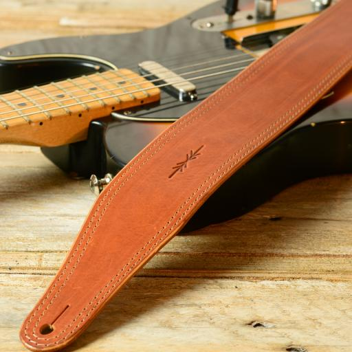 "GS41 2 3/8"" (60mm) Wide Guitar Strap - Tan"