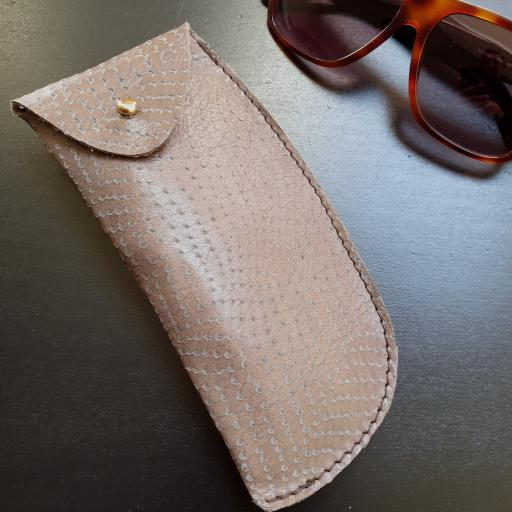 Leather Sunglasses Case - limited edition snakeskin style