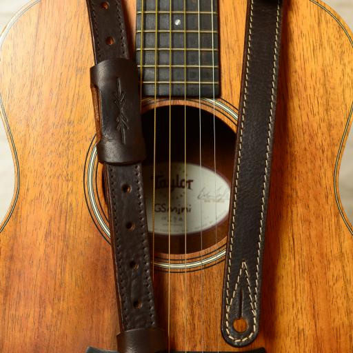"GS88 1"" Travel Guitar Strap - Brown"