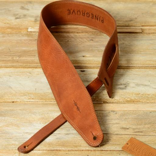 SOLD BS53 Leather Guitar Strap - tan ex-display