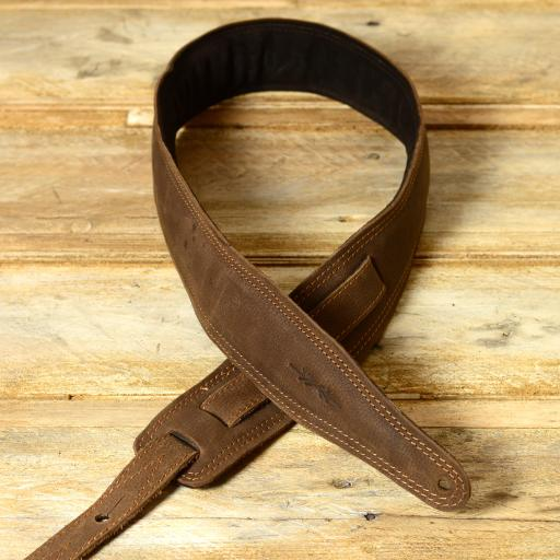 SOLD! GS61 Leather Guitar Strap - brown second