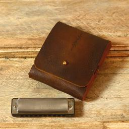 double harmonica belt pouch brown grainy antique DSC_0460.jpg