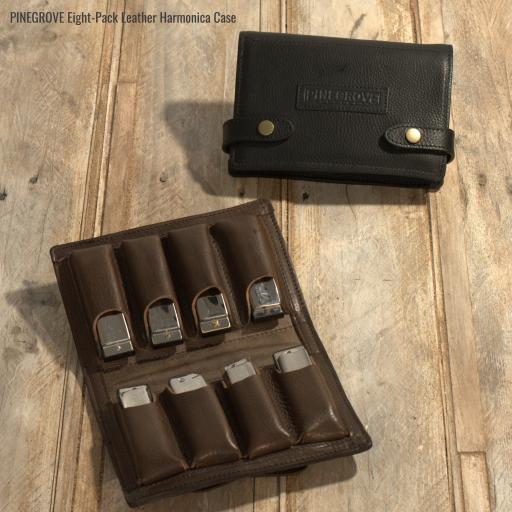 Eight-Pack Leather Harmonica Case