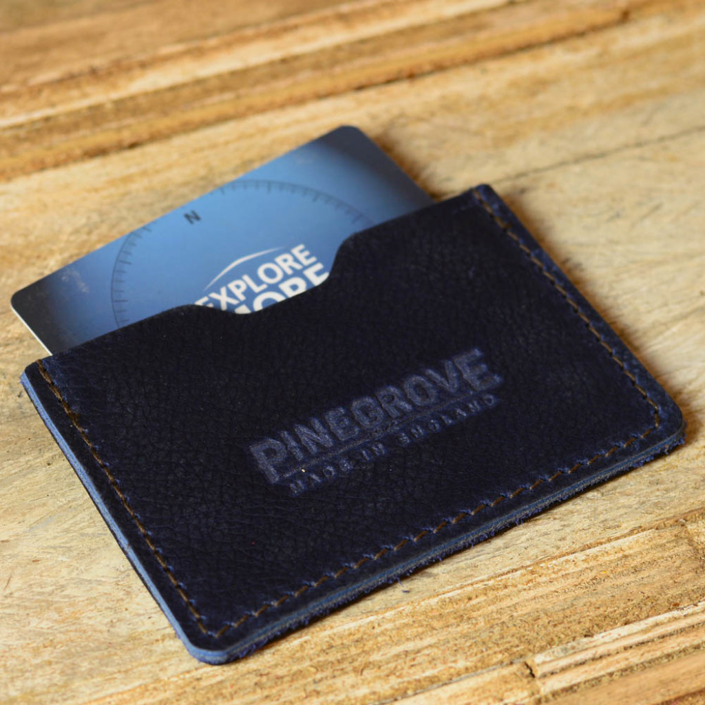 Pinegrove Leather card wallet with gift voucher store card