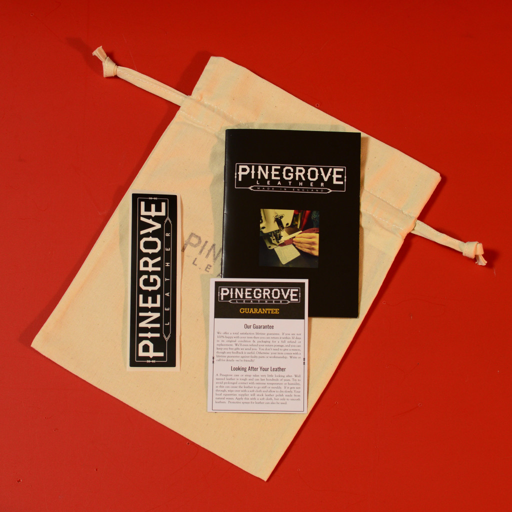 All Pinegrove straps & cases come in a cotton gift bag with free sticker, 16-page product guide and guarantee/care card