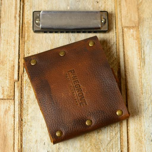 double harmonica belt pouch brown grainy DSC_0652.jpg