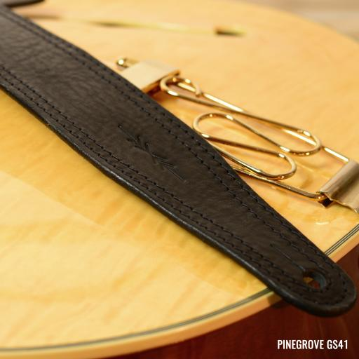 "GS41 2 3/8"" Wide Guitar Strap - Black"