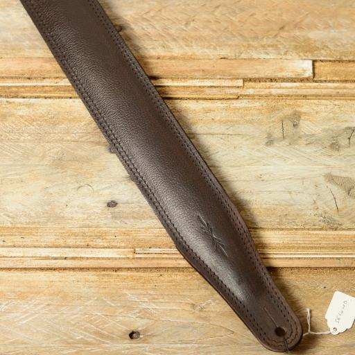 GS61 Leather Guitar Strap - brown second