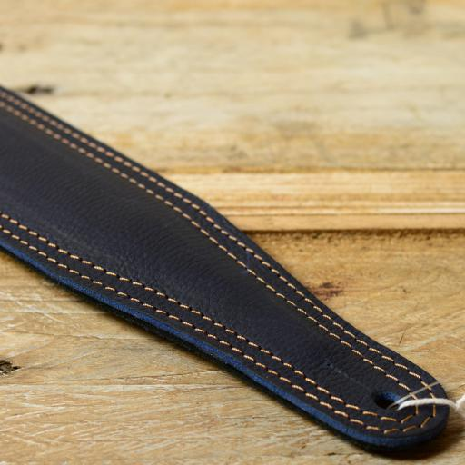 RESERVED GS61 Leather Guitar Strap - blue - old stock