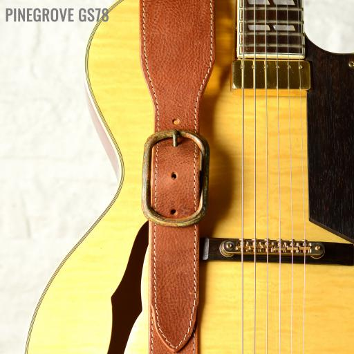 GS78 Leather Guitar Strap With Buckle - tan