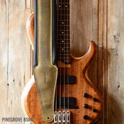 BS66 Heavyweight Bass Guitar Strap - Olive Green