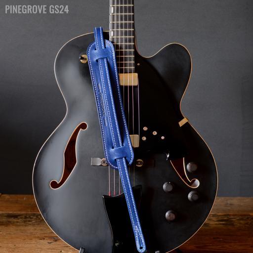 "GS24 3/4"" (18mm) Wide Rockabilly Guitar Strap - Royal Blue"