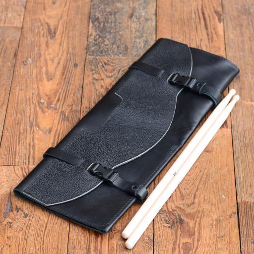 Black Leather Drumstick Bag - special offer (old stock) SOLD!