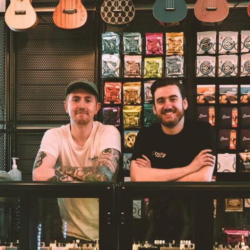 Raff and Rob in Music Bros mini.jpg